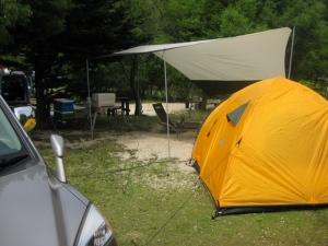 タープ+小テント